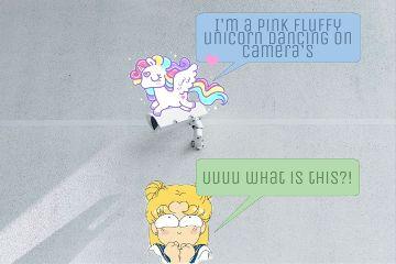 freetoedit comedy unicorn rainbow cute