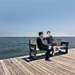 freetoedit myedit sitting bench sea