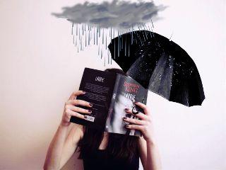 freetoedit rain raincloud book umbrella
