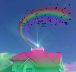 colors colorful rainbowhouse rainbows madewithpicsart freetoedit