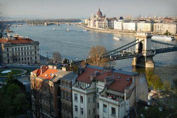 budapest view lovely balcony beautiful