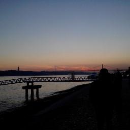 colorful photography travel travelling lisbon lisboa portugal sky sunset sun sunsetsky sea river bridge