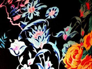 oileffect flowers pattern skirt summer