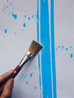 freetoedit brushstrokeremix blue painting