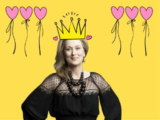 freetoedit merylstreep love party colorful