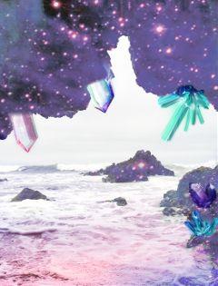 freetoedit cristals stars galaxy rocks