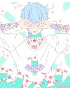 anime manga art pastel pretty