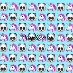 pandicorn panda unicorn freetoedit