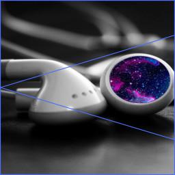 freetoedit galaxysticker bored earphones