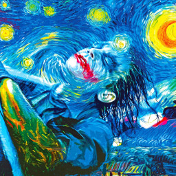 creativity paintings colorful bluehair vangoghalive