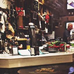 jamon beer people bar spain