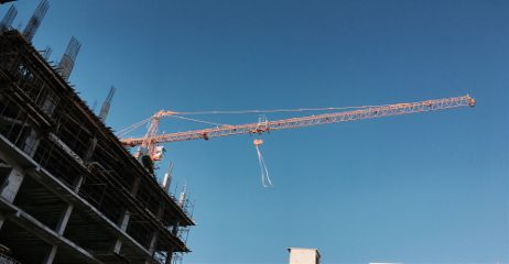 sky evening blueskies crane constructioncranes freetoedit