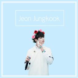 bts jungkook pastel blue flowercrown