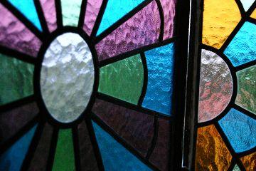 mosaic window lights colorful
