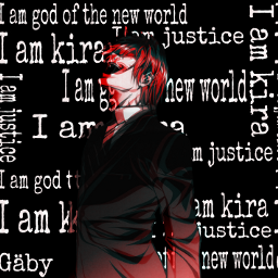 lightyagami deathnote iamkira anime iamjustice