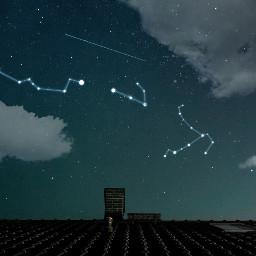 freetoedit constellations nightsky stars edited