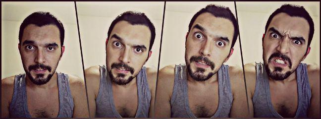 portrait selfie stanger collage emotions freetoedit