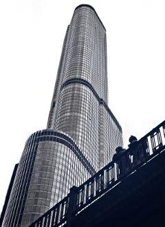 chicago architecture blackandwhite