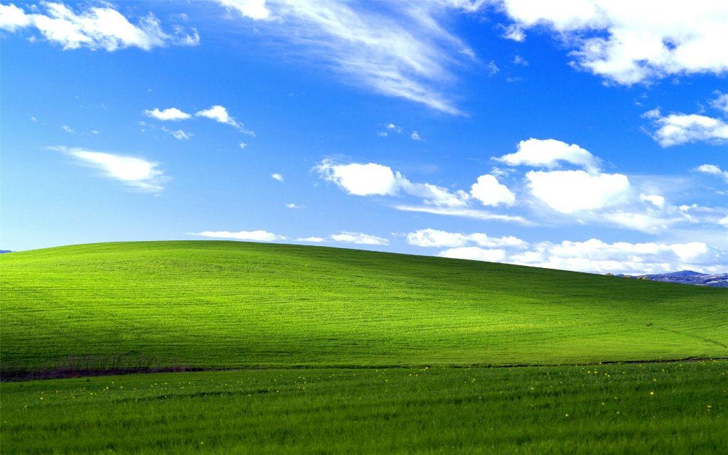 Windows95 Wallpaper Nature Grass Cloud