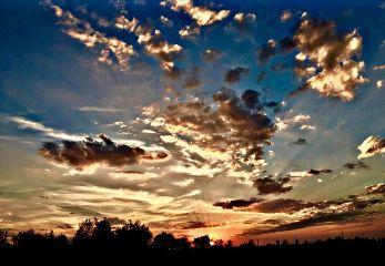 sunset clouds sky photography nature
