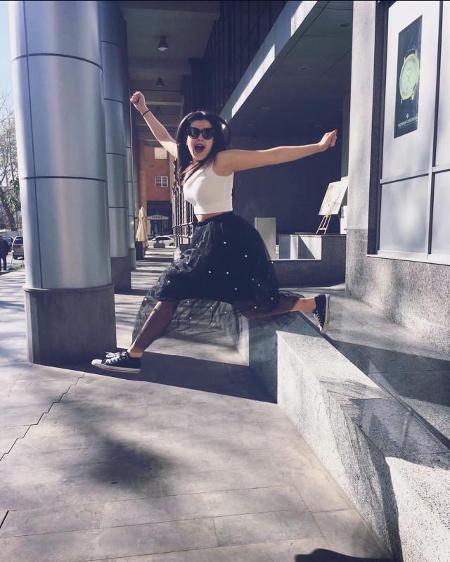 Jumpin/Runnin away from my problems like... 👋🏼 #freetoedit