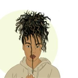 freetoedit curlyhair girl cabelocacheado casaco