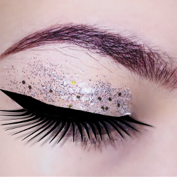 freetoedit eyebrows eyeliner glitter girl