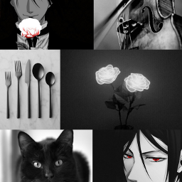 blackbutler black anime sebastianmichaelis aesthetic