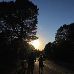 family grandcanyon sunset silhouttes roadtrip