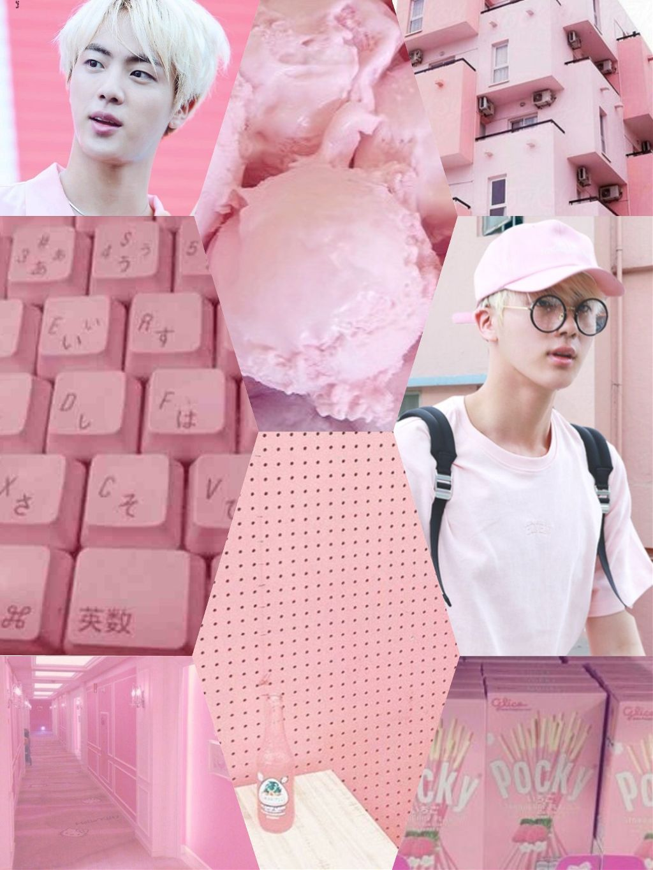 Aesthetic Wallpaper Jin Bts Pinkprincess Jinbts Seokjin