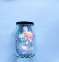 jar background clear stars galaxy freetoedit
