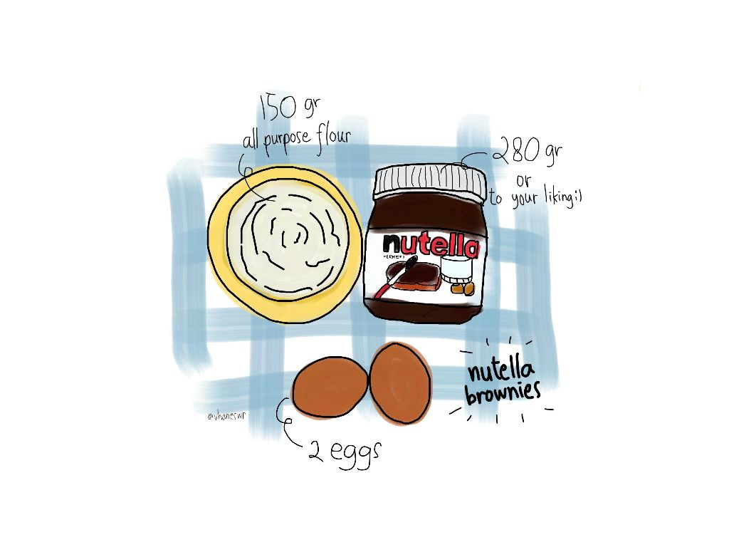 I'm back! 🙌 Here's a superduper simple brownie recipe. It works! Go give it a try 💕  #doodle #outlineart #recipeoftheweek #brownies #delicious #dailysketch #artsimple