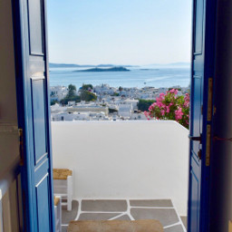 greece mykonos travel door doorway freetoedit