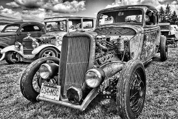 patina blackandwhite cars