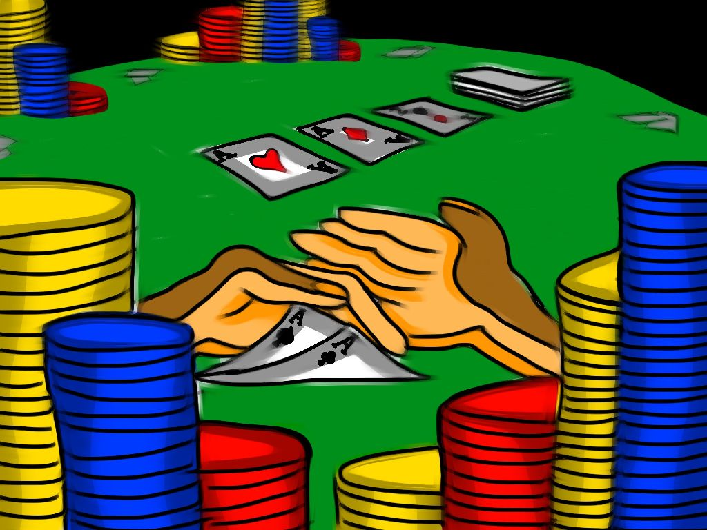 All In  #drawing #oilpaintingeffect #poker #texasholdem #colorful #popart