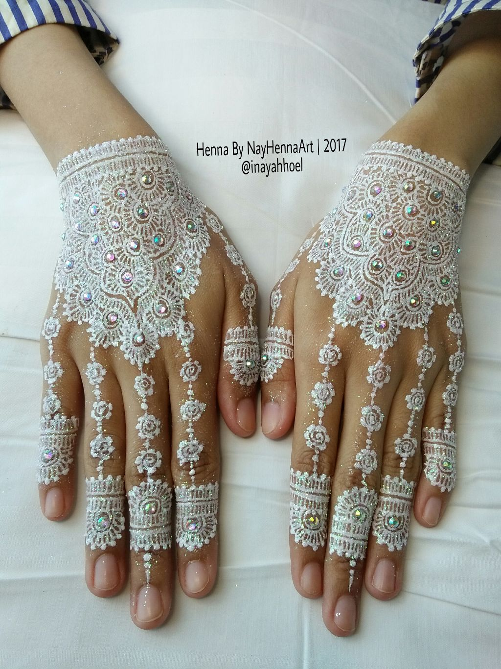 Wedding Henna Design Using White Henna By Best Henna