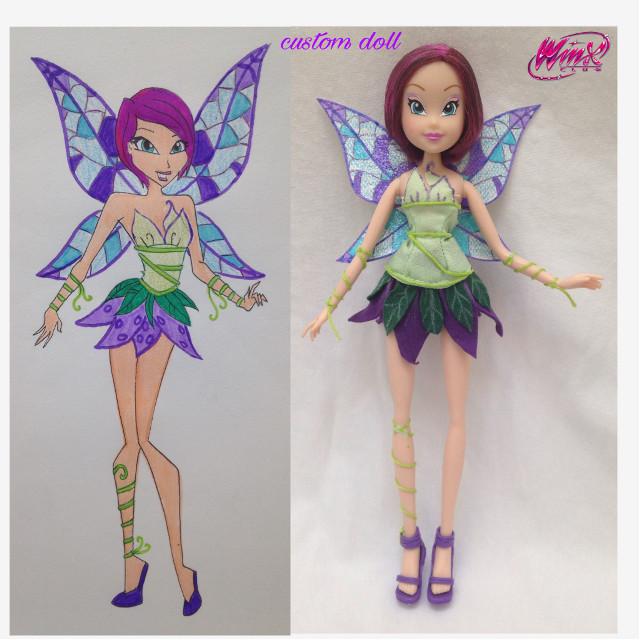 my custom winx tecna greenix doll