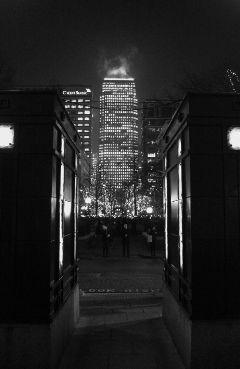 city skyscraper london night