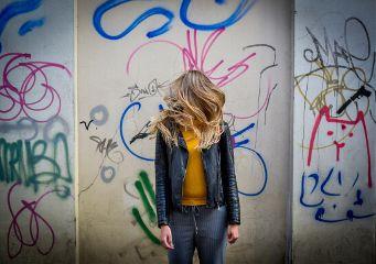 art interesting graffiti wall hair