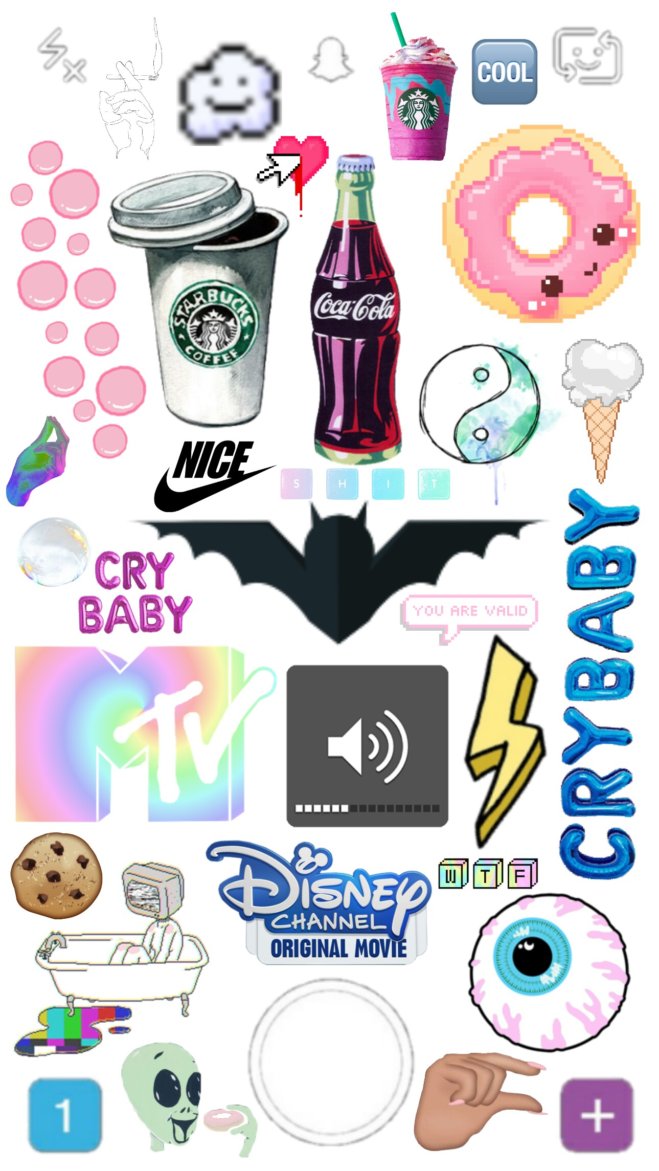 Collage Tumblr Sticker Stickers Cool Fondodepantalla