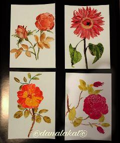 art painting stilllife roses watercolor