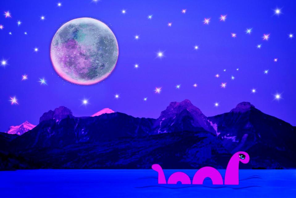#moon #lochness #editedbyme