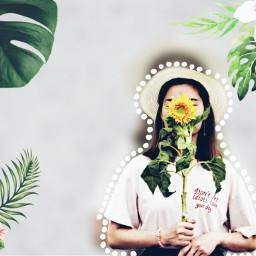 freetoedit girl girasol tropical