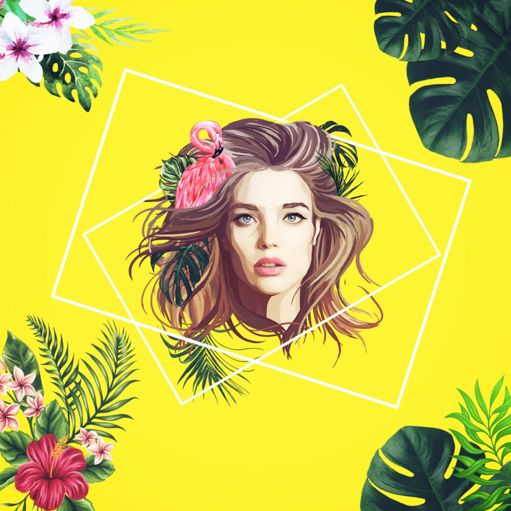 #flamingo #tropical #plants #flower #girl #NataSupernova