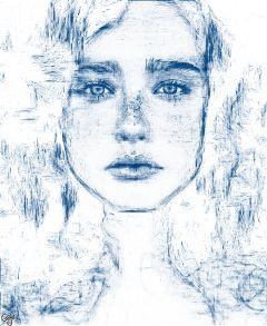 freetoedit pencilart portrait freckles