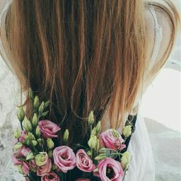 freetoedit flowet pink blonde girl