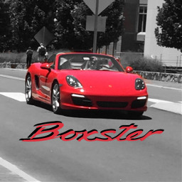 colorsplash freetoedit porsche boxster red