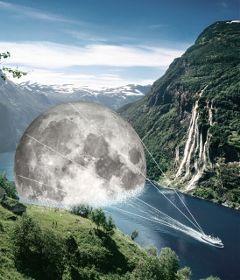 editing moon surreality illustration