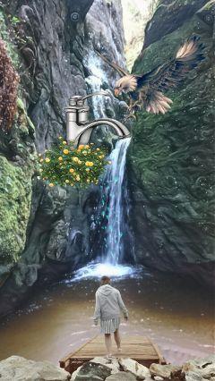 dockremix myedit artwork surrealism waterfalls freetoedit