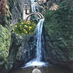 dockremix myedit artwork surrealism waterfalls